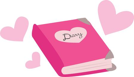 diary: Make a special cover for a diary.