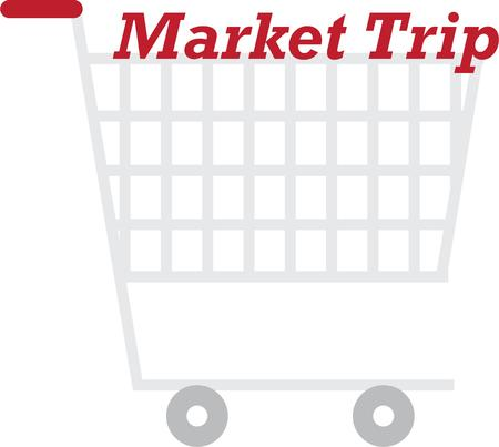 shopping buggy: Put this cart on your shopping bags for a great trip to the store.