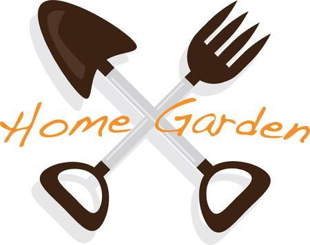 hand trowel: Take these tools with you to work in the garden on a t-shirt.