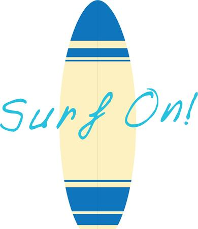 Take a surf board with your for a fun day at the beach.