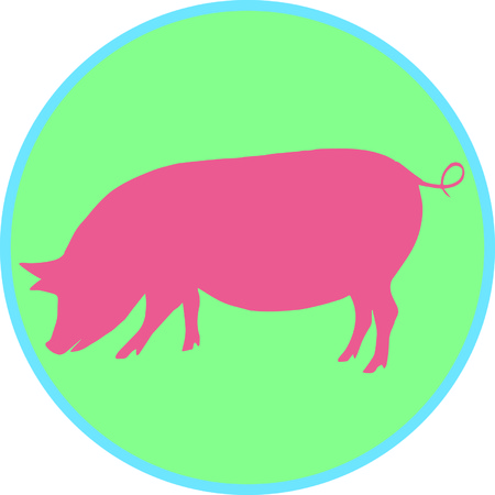porker: Farmers will love this animal on a cap.