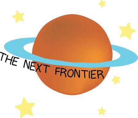 Star gaze with a planet on a t-shirt. Stock fotó - 44805817