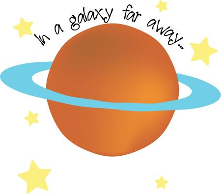 Star gaze with a planet on a t-shirt.