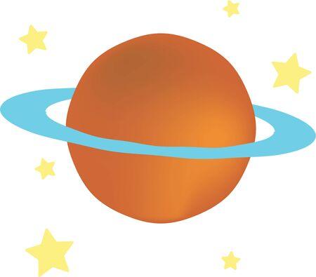 gaze: Star gaze with a planet on a t-shirt.