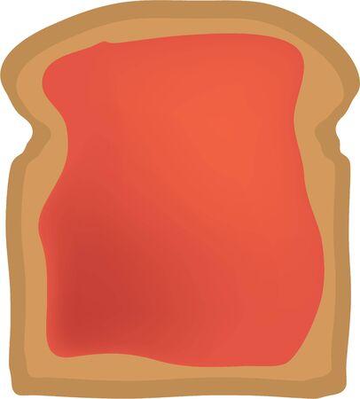 Heb wat toast voor het ontbijt. Stock Illustratie