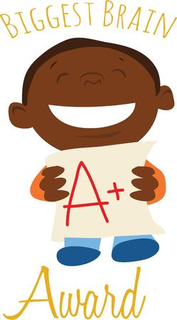 lad: This kid will be a great way to show off a special student. Illustration