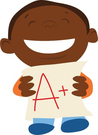 show off: This kid will be a great way to show off a special student. Illustration
