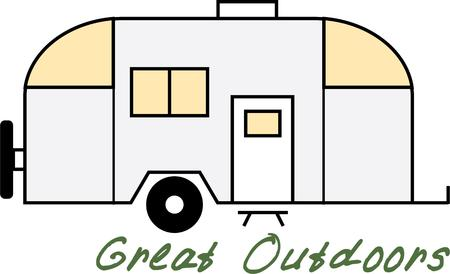 Take this camper on a traveling adventure. Illustration