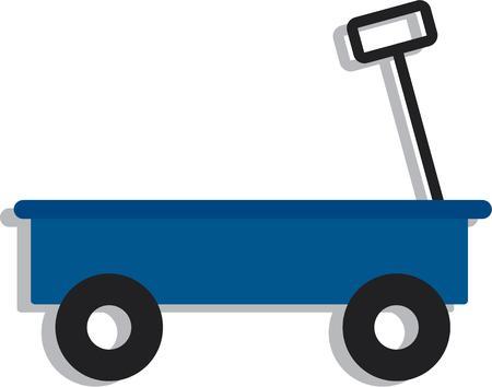 pull toy: Los ni�os les gusta jugar con este carro lindo. Vectores