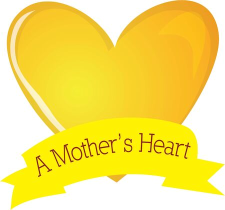 Let your mother know how much you love her with this heart.