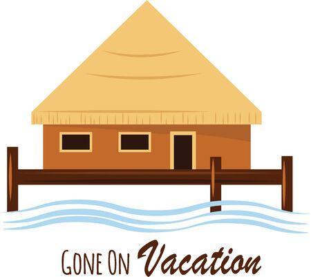 beach hut: Put an island hut on your beach wear.