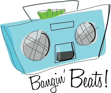 Enjoy music on a boom box.