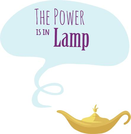 Make a wish with a magic lamp.