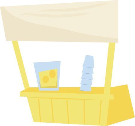 street vendor: Make a fun summer t-shirt with a lemonade stand.
