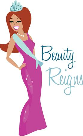 beauty queen: All girls dream of being a beauty queen.