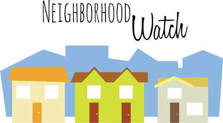 row houses: Colorful houses are a great design for a housewarming gift.