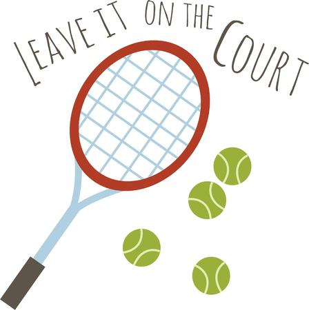 テニスのファンはこのバウンドするボールを愛する。