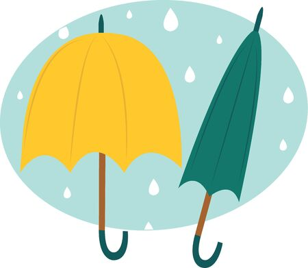 Accent your rain gear with colorful umbrellas.