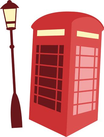 A British phone booth is a classic European symbol for a travel project.