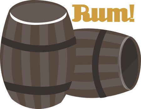 Beer barrels are a great design to add to a bar towel. Фото со стока - 44805534
