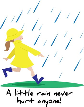 Have fun on a rainy day with this little girl.