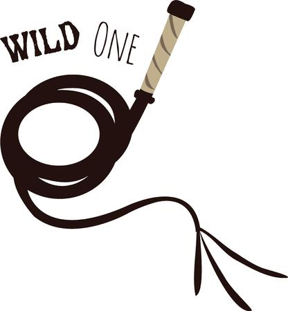 whip: Show off your wild side with a whip.