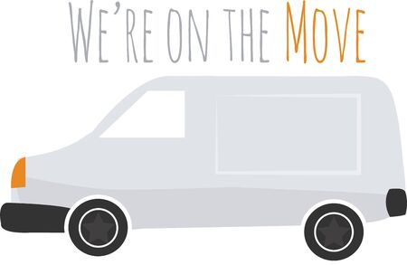 This van will make a great logo for a trucking company.