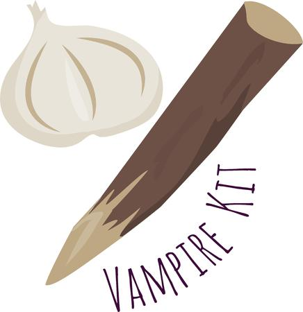 garlic clove: Be ready for vampires with these tools.