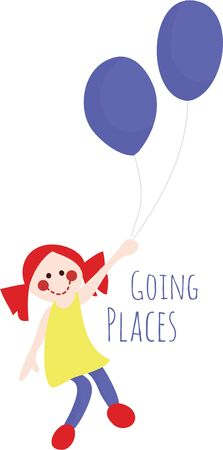 going places: Add a fun design to any project. Illustration