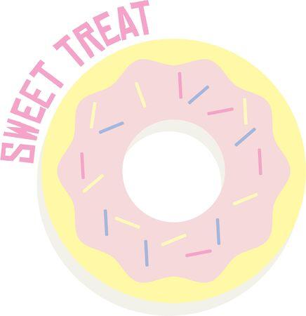 Doughnuts make a great treat. 向量圖像