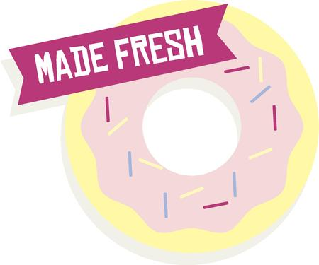 treat: Doughnuts make a great treat. Illustration