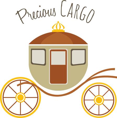 horse and cart: Every princess needs a special ride to the ball. Illustration