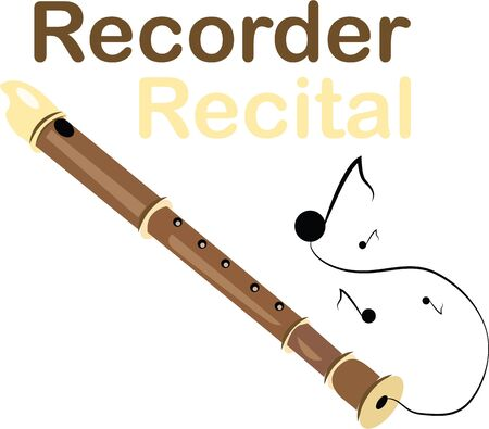 Speel mooie muziek met deze recorder.