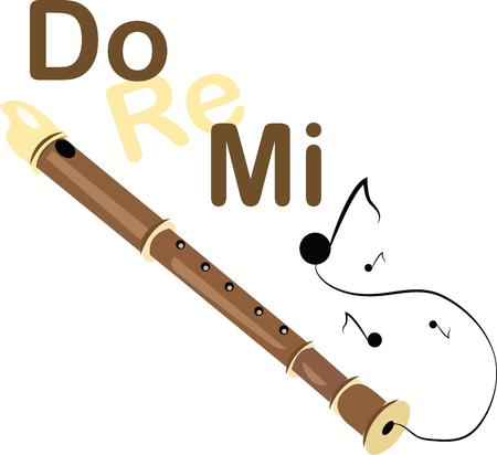 Play beautiful music with this recorder.