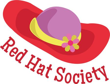 fun day: Display a red hat for a fun day out.