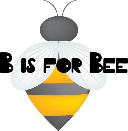A bee will add color to your projects.