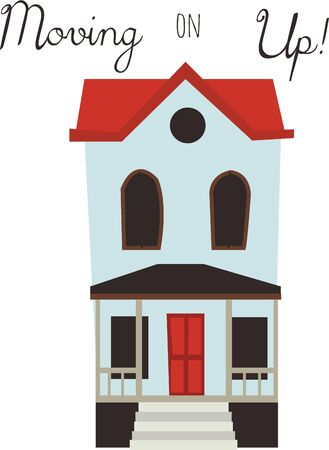A pretty townhouse will make a great design for a house warming gift.