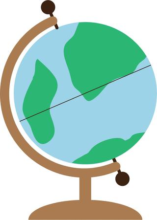 Dream of travel adventures with this globe.