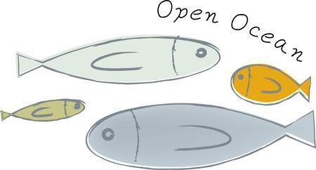 Diese Fische macht einen großen Entwurf auf eine Fischer Hut. Standard-Bild - 44805329