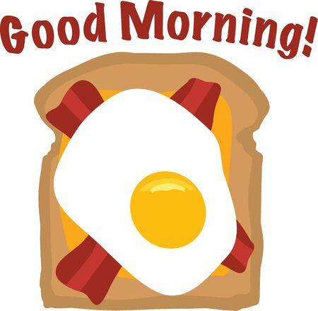 デザインを作る素晴らしい料理の楽しい朝食。