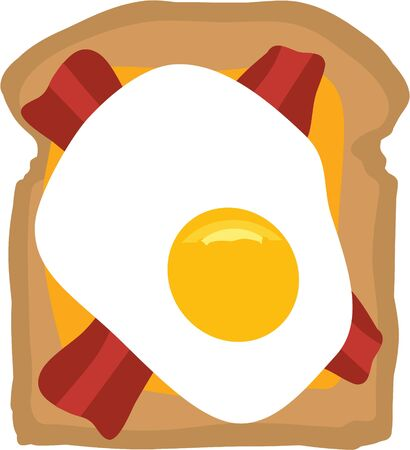Machen Sie einen großen Nahrungsmittelentwurf für ein lustiges Frühstück. Standard-Bild - 44805334