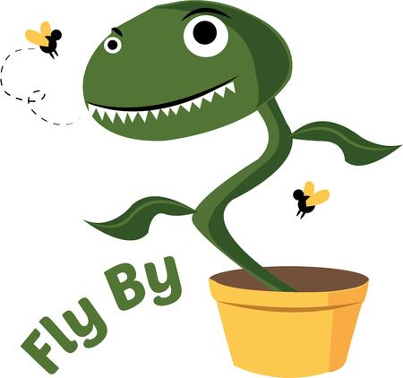 This Silly Fly Trap Will Look Great With Your Gardening Gear. Royalty Free  Cliparts, Vectors, And Stock Illustration. Image 44805277.