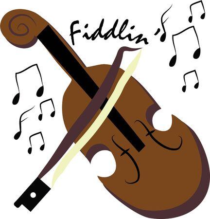 Fai la bella musica con un violino, Archivio Fotografico - 44805280