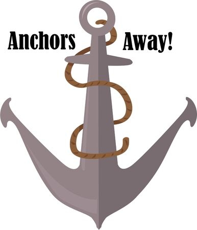 mooring anchor: An anchor will be a great accent on a nautical shirt.