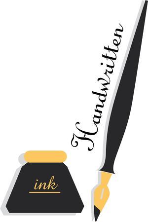ヴィンテージも、インクと書くとペンのためのあなたの愛を表示します。