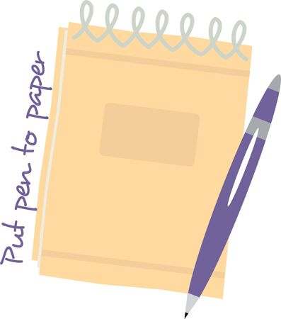 note pad and pen: Have a pen and pad handy with this design.