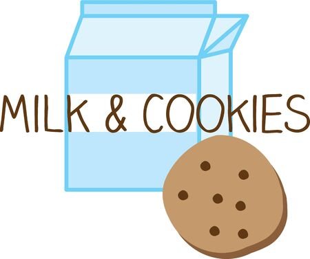 milk and cookies: Have milk and cookies for an afternoon snack.