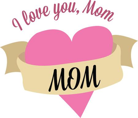 sash: Show your love for your mother with this lovely heart.