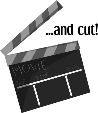 Movie night will be fun with this clapboard.