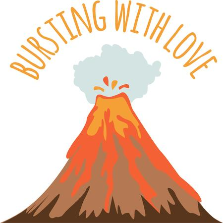 A volcano is perfect for an overflowing sentiment. Illustration